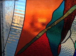 Stained glass at Living Arts Center in Denver