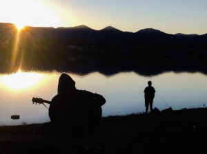 Minstrel at the Lake: Photo by Noelle