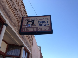 Wild Flowers Quilt Shop and Liquor Store: Ritzville, Washington, USA: Photo by Noelle