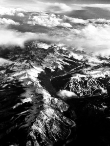 Arial view of The Rockies in Colorado: Photo by Noelle