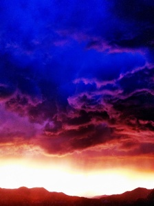 Sunset storm over the Rockies: Photos by Noelle