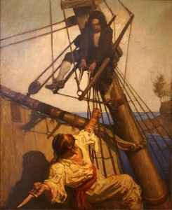 N.C. Wyeth illustrations from Treasure Island by Robert Louis Stevenson